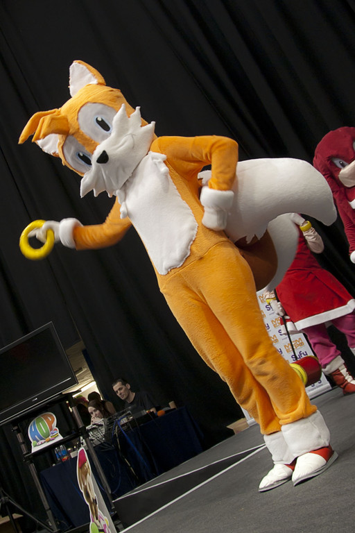 Sonic and tails cosplay