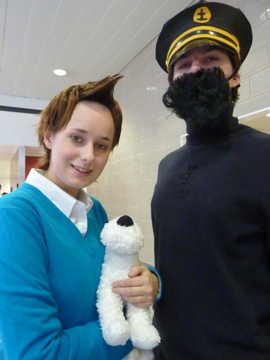 Tintin and snowy costumes